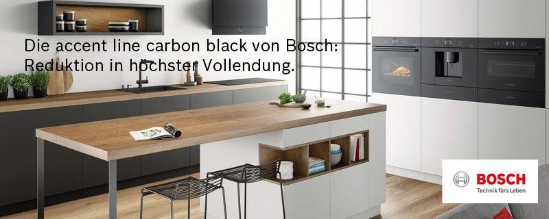 Bosch Accent Line In Carbon Black Kuchen Einbaugerate